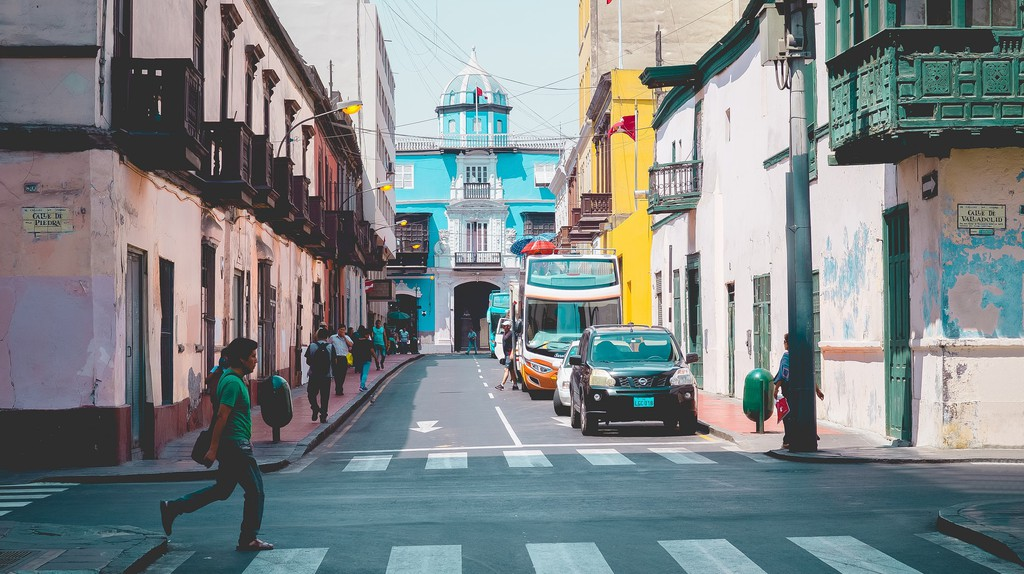 The streets of Lima, Peru