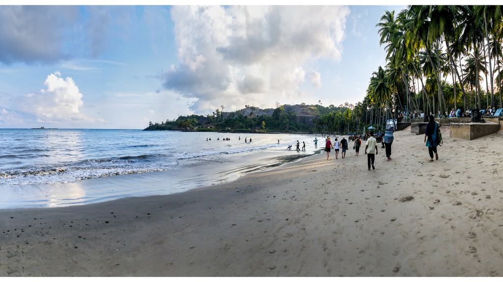 Corbyn's Cove Beach is the only beach in Port Bair that has a number of commercial establishments