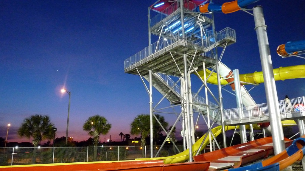 Water slide tower