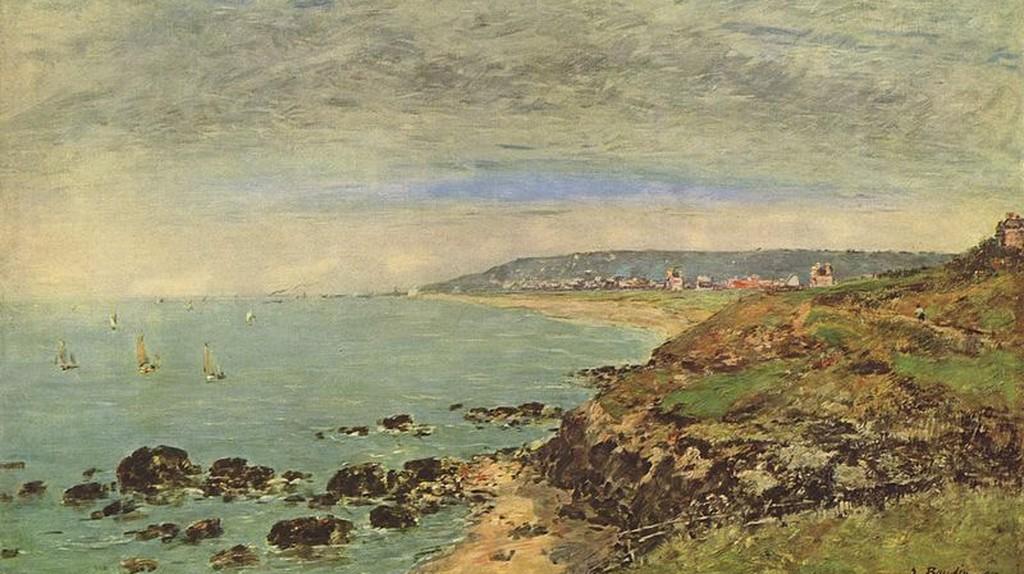 La côte atlantique au Benerville by Boudin