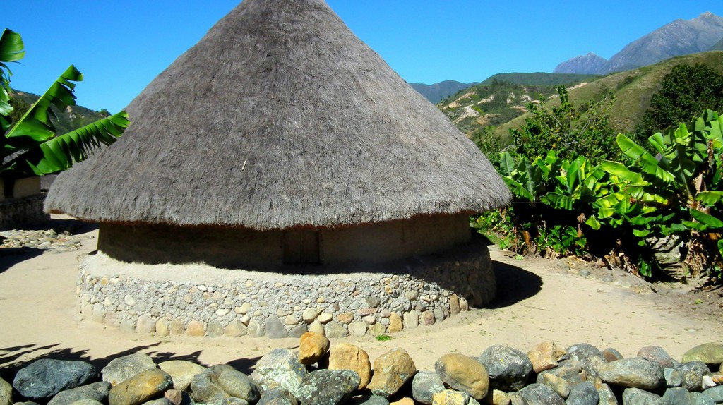 Indigenous village in Colombia