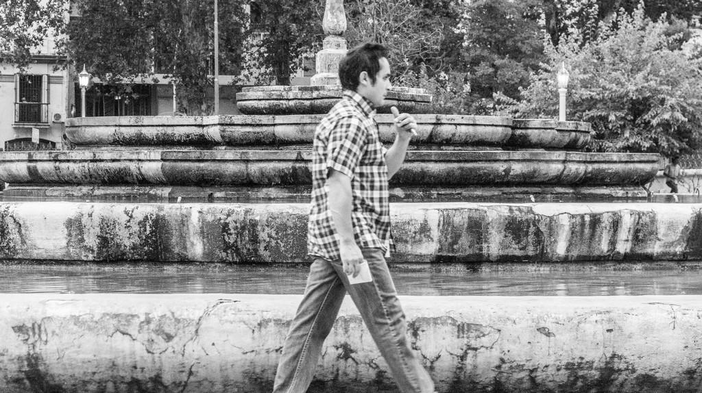 A man enjoying a stroll in Cordoba, Argentina