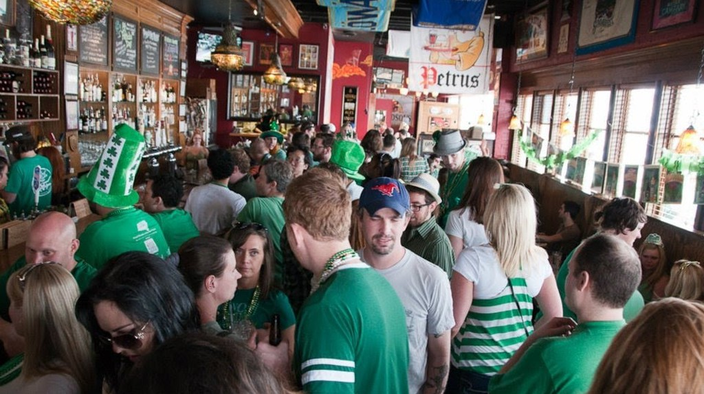 St. Patrick's Day celebration at The Libertine Bar on Lower Greenville Avenue, Dallas, TX