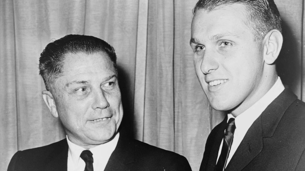 Jimmy Hoffa with his son James in 1964