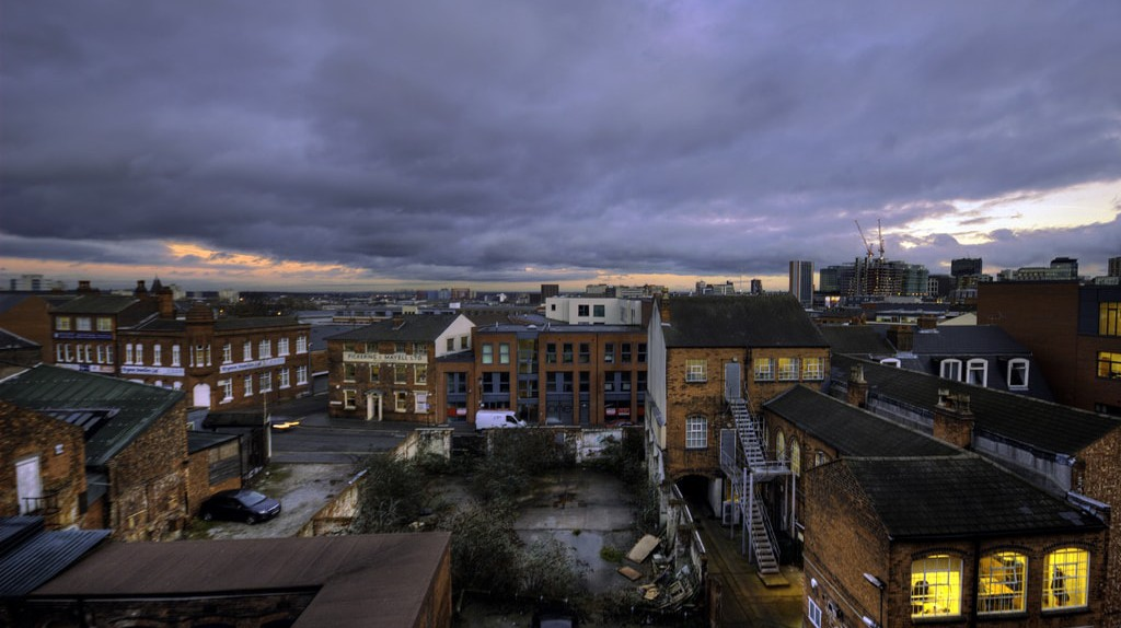 Stormy weather over the Jewellery Quarter