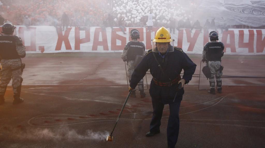 Your typical scene at the Rajko Mitić stadium in Belgrade
