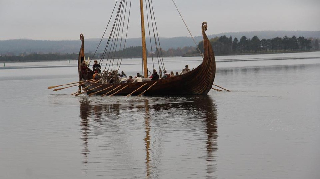 Full-scale copy of Oseberg Viking Ship