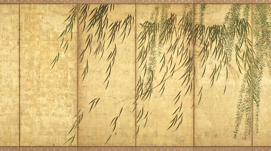 Hasegawa Tōhaku,Willows in Four Seasons (right panel),late 16th century (Momoyama period).London Gallery, Tokyo | Courtesy of the Japan Society.