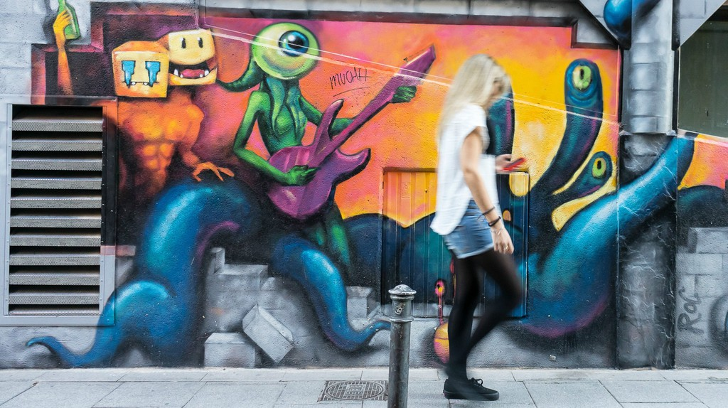 Malasaña is full of eye-catching street art