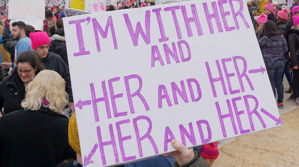 A sign at the 2017 Inaugural Women's March celebrating the fierceness of Washington women