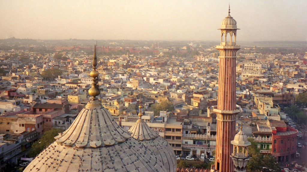 The minaret at Jama Masjid provides the best view of Old Delhi