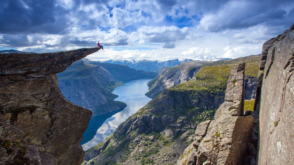Chilling in Trolltunga is definitely a very Norwegian habit