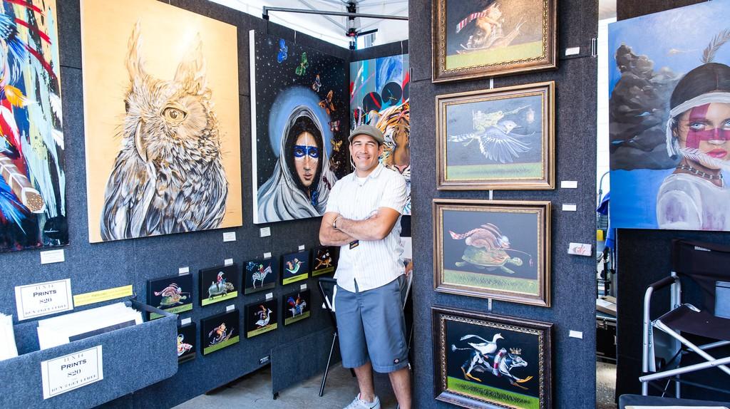 Darrell Driver Fine Art features his art work at Deep Ellum Arts Festival