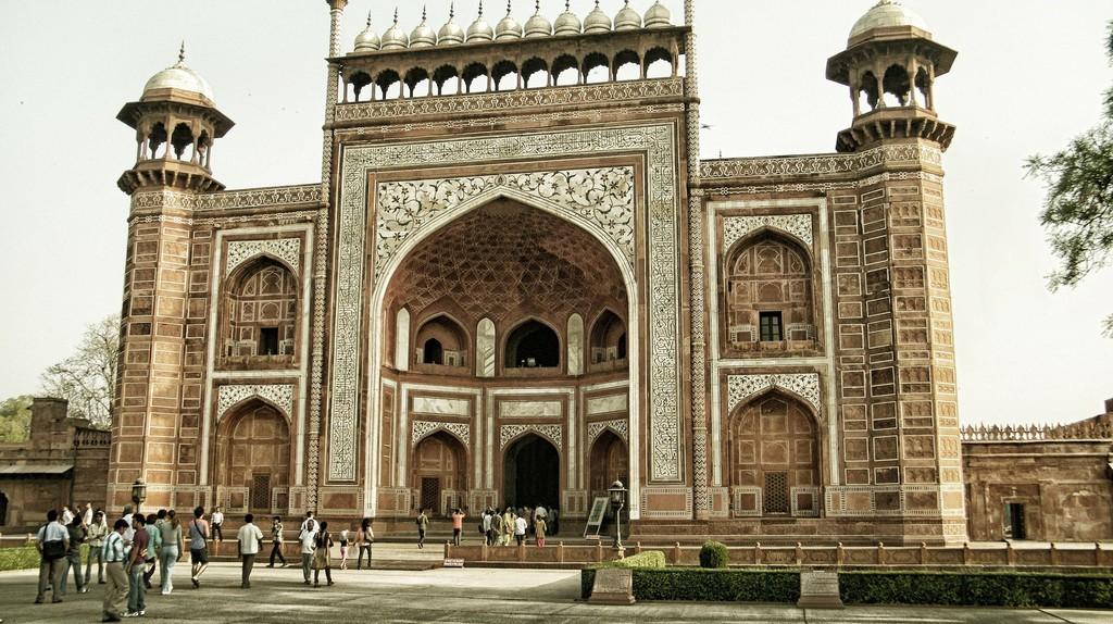 One of the entrance gates to the Taj Mahal, Agra