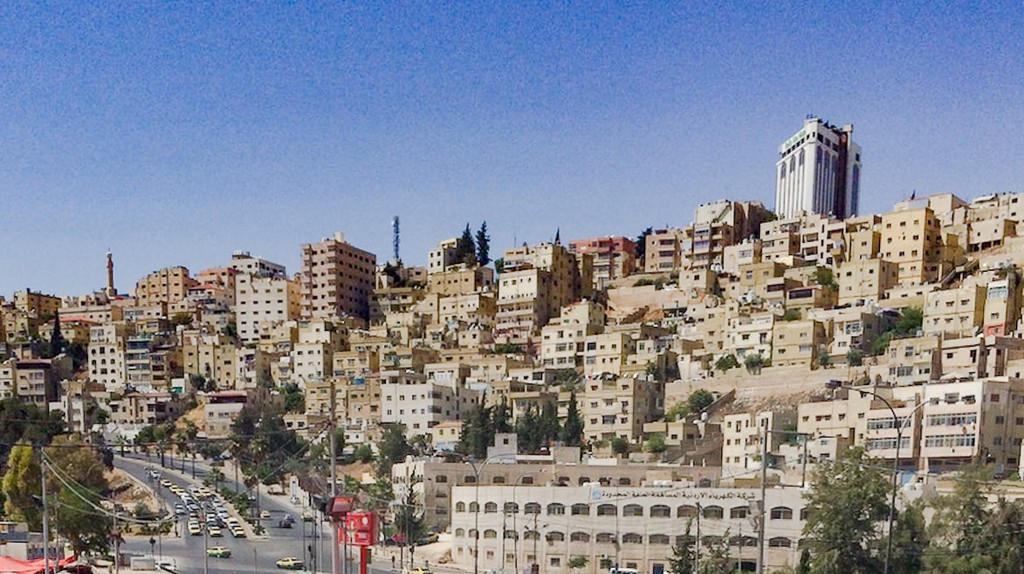 A typical Amman hillside as seen from downtown