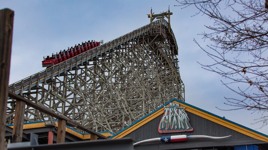 The Texas Giant is a classic rollercoaster at Six Flags Over Texas in Arlington