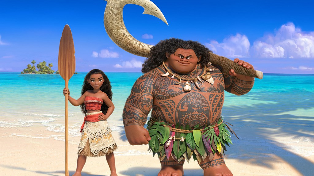 Moana & Maui from the Disney film