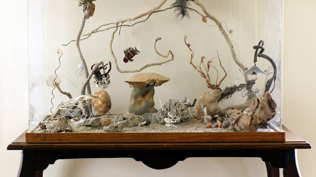 Parlor aquarium at the Zymoglyphic Museum