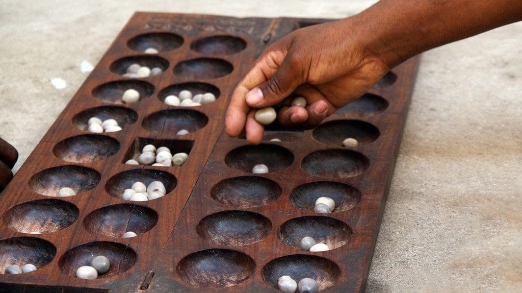 Nsolo or Mancala is a popular game played in Zambia