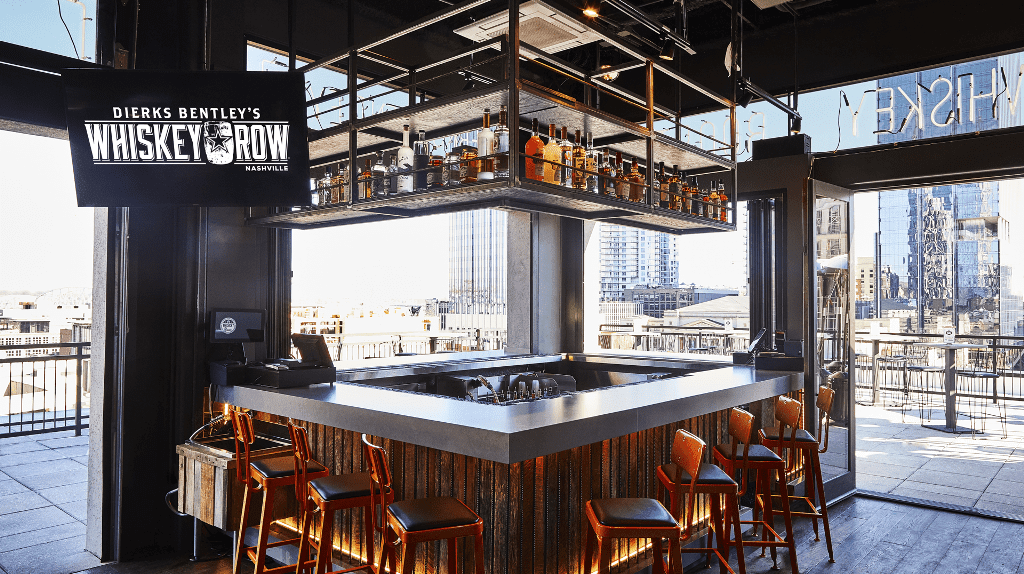 Whiskey Row has a full menu, a rooftop patio & a dance floor