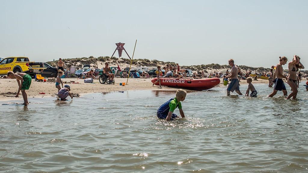 Take a dive at the North Sea at Blokhus beach