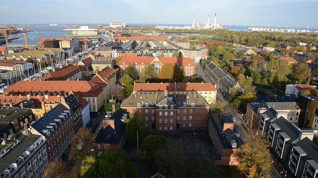 The stunning view from the Church of Our Saviour in Copenhagen
