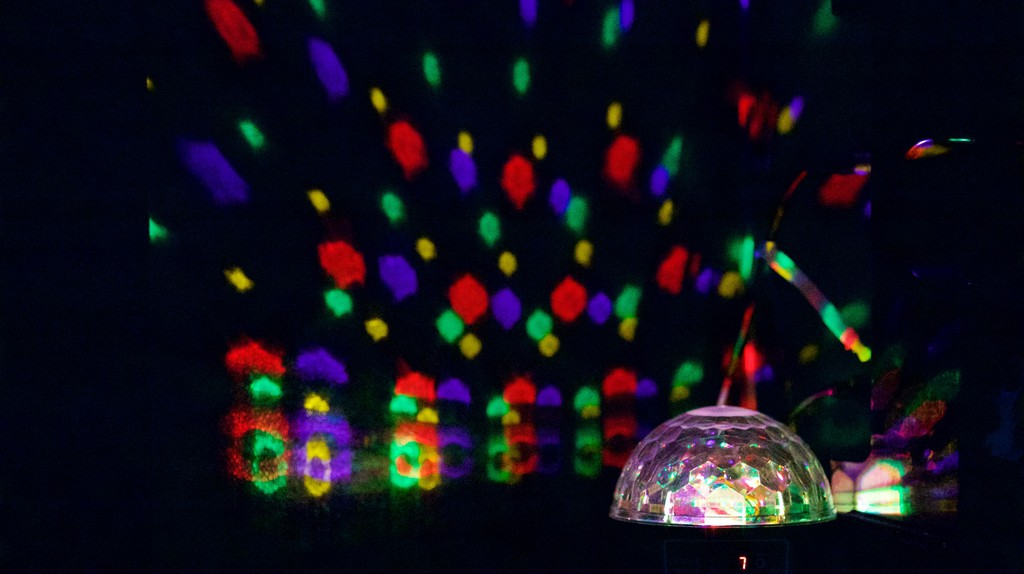 Cheesy disco balls are a default in KTV boxes