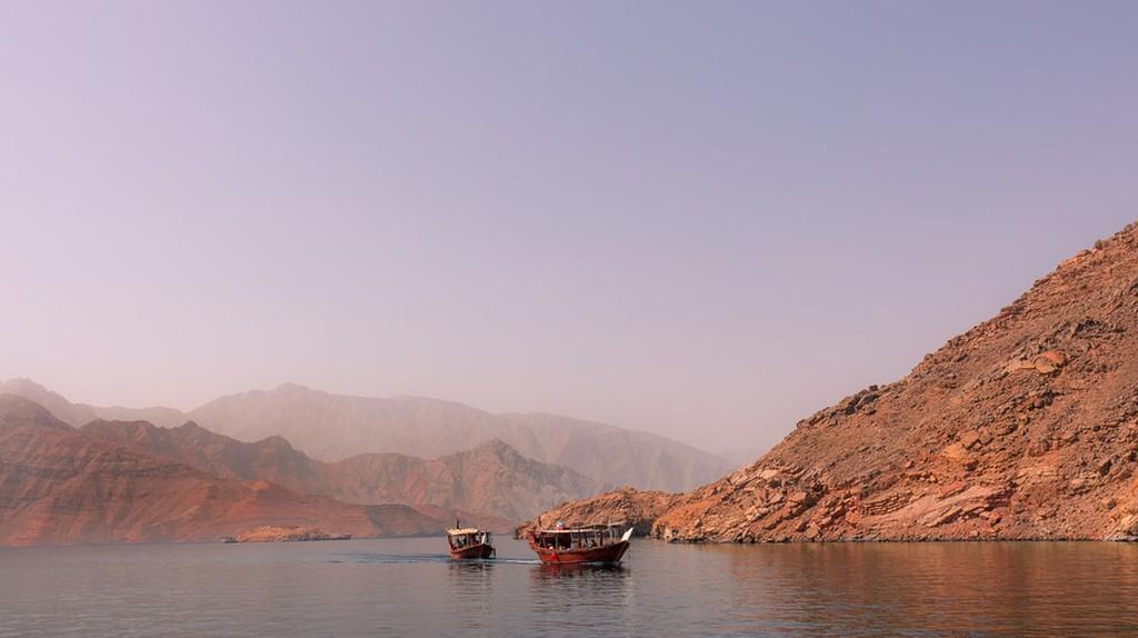 Oman's Musandam Peninsula is known for its stunning mountainous landscape