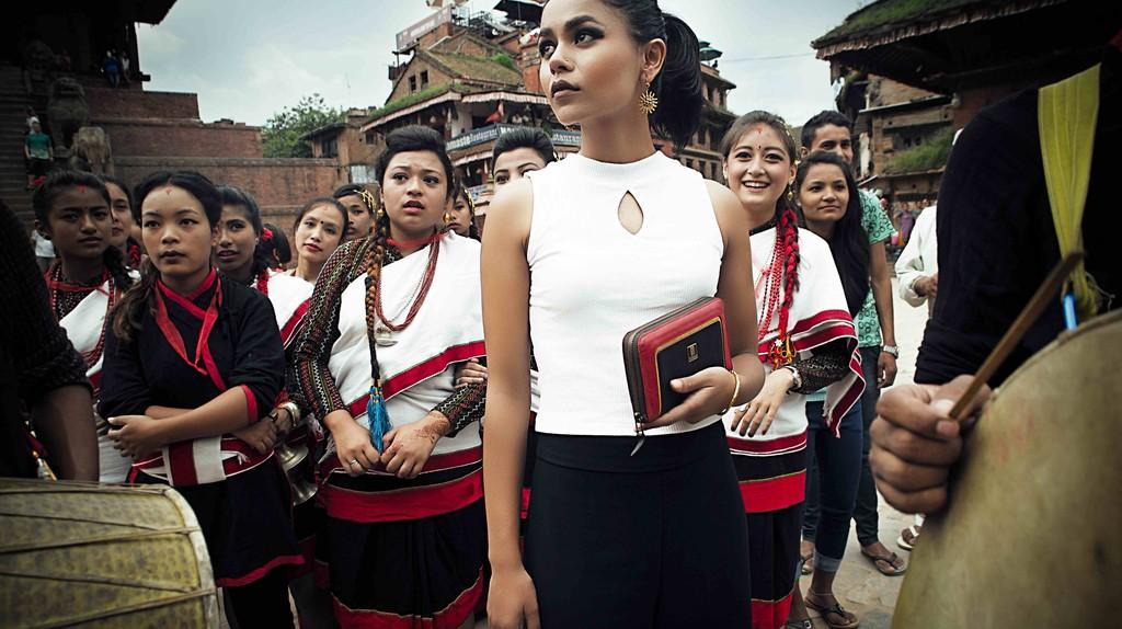 Traditional Newari dress meets Tissah's modern designs