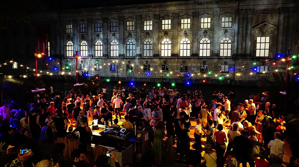 Open-air celebrations near Museum Island