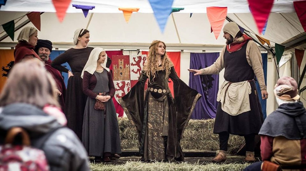 A performance during Oslo's Medieval Festival
