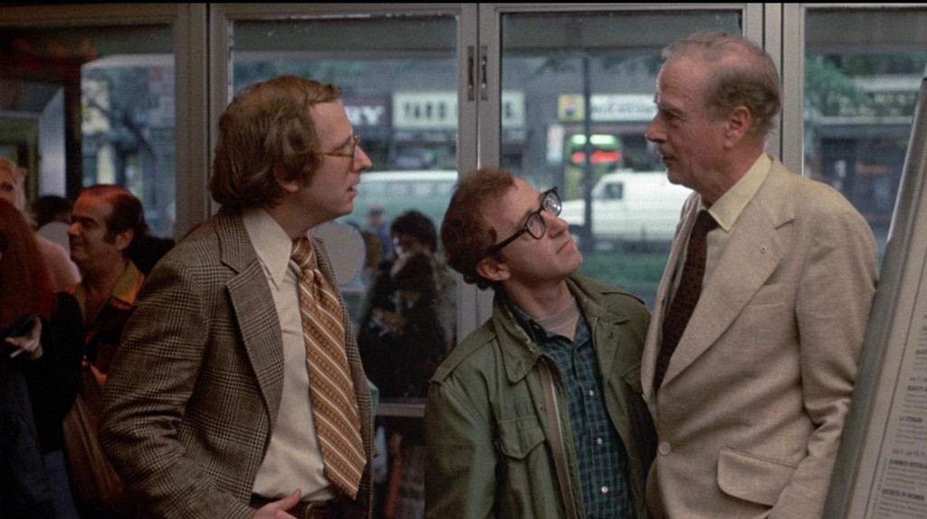 """Russell Horton, Woody Allen, and Marshall McLuhan in """"Annie Hall"""""""