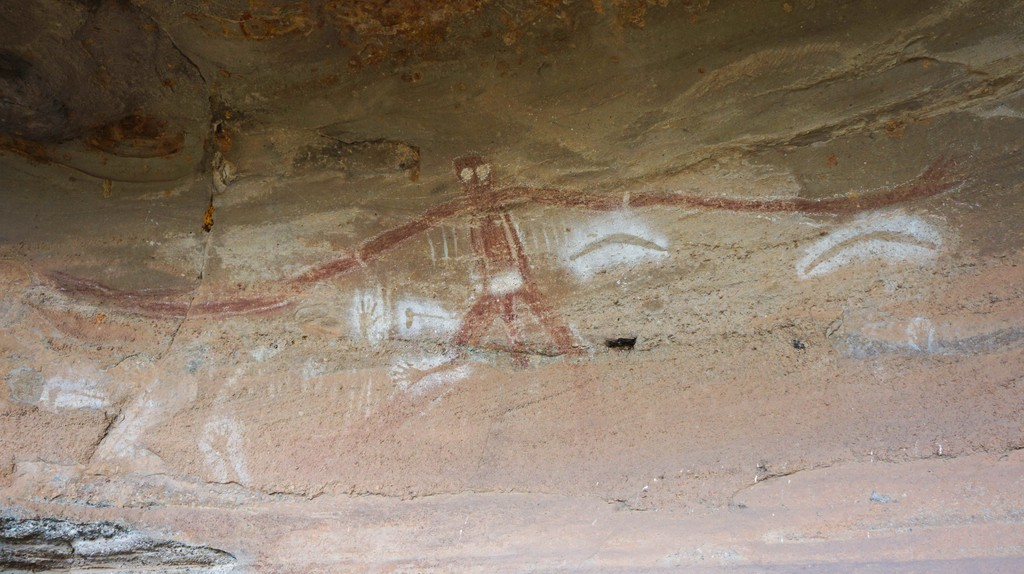 The Baiame figure of the cave