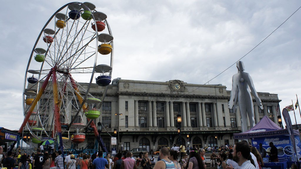 Artscape at Baltimore Penn Station in 2014.