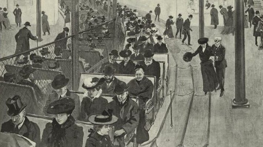 An illustration of proposed underground moving sidewalks in New York