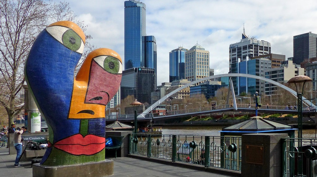 Ophelia sculpture in Melbourne's Southgate