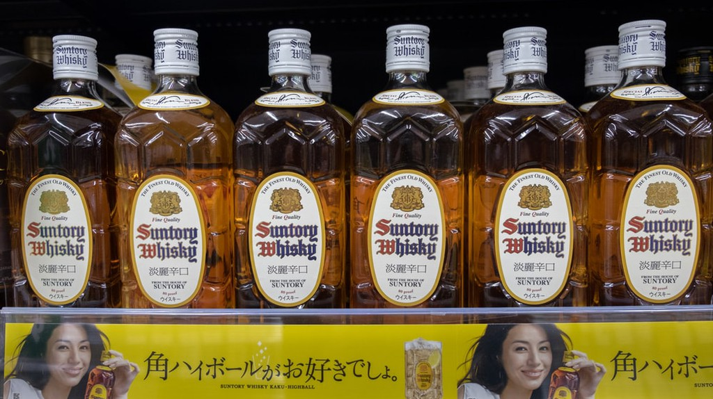 Suntory whisky bottles