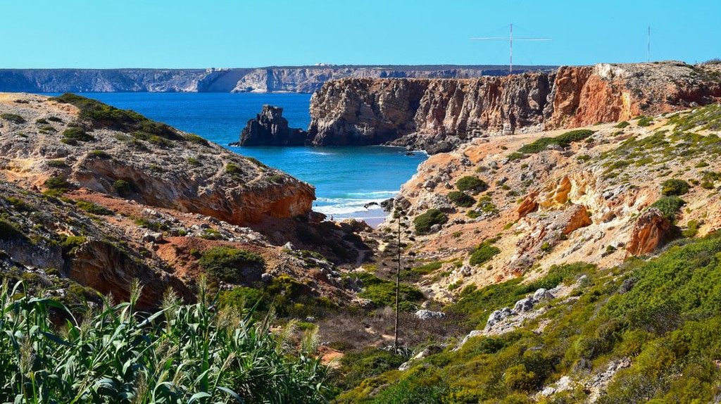 Coastline in Sagres, Portugal