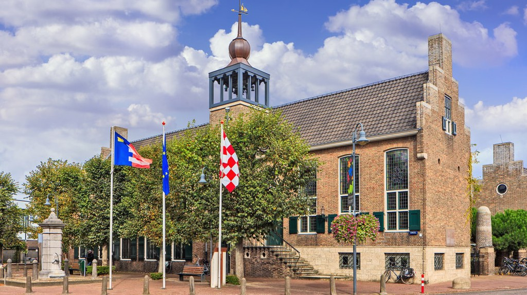 Town hall in Baarle-Nassau, Netherlands