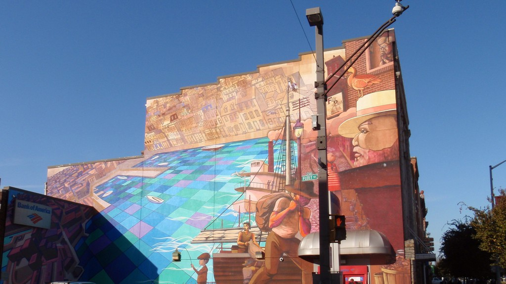 Nelson Riveras mural on 529 S. Broadway in Baltimore