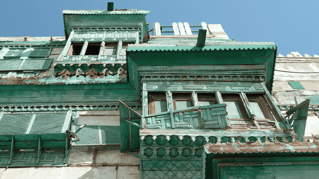 Al Balad's buildings are known for their distinctive wooden coverings