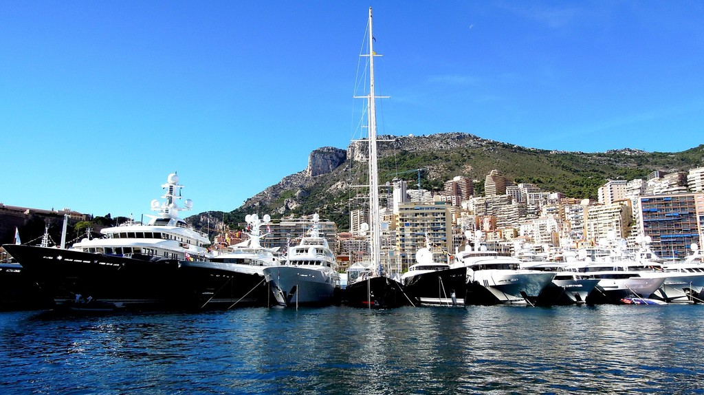 Yachts in Hercule Harbour in Monaco