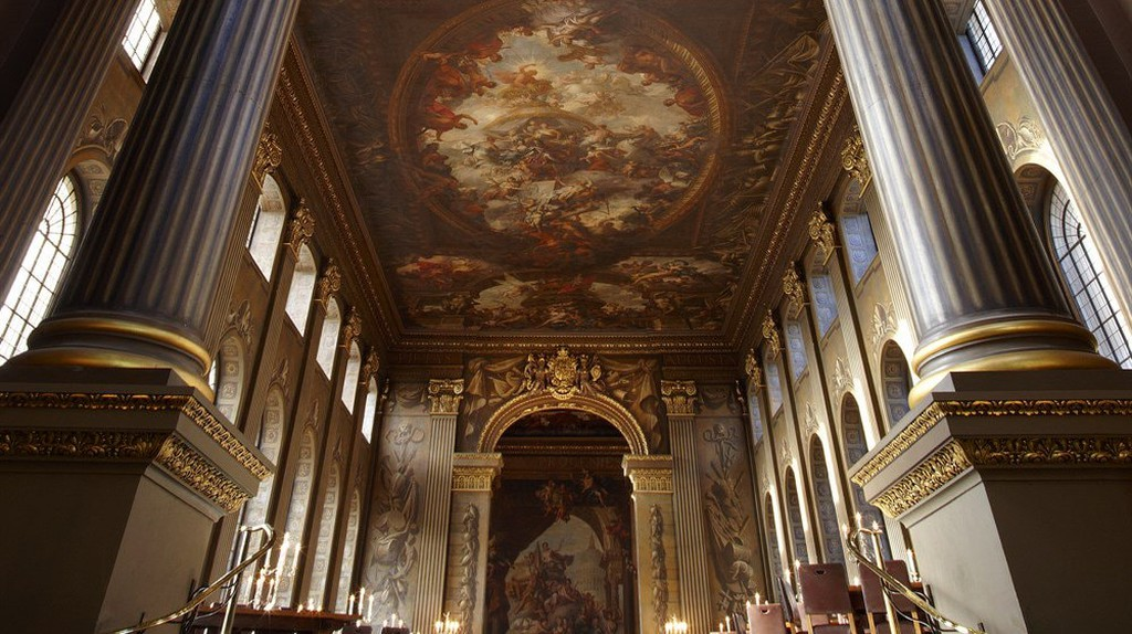The Painted Hall before the conservation process