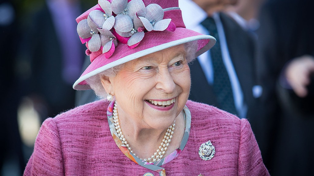 Queen Elizabeth II on a visit to the Kelpies to open the Queen Elizabeth II Canal at the Helix Park, Falkirk.