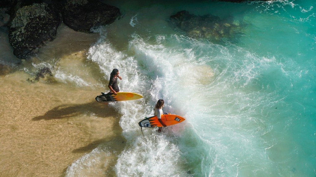 Hit the surf in Bali