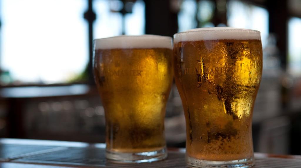 Two schooners of Australian beer