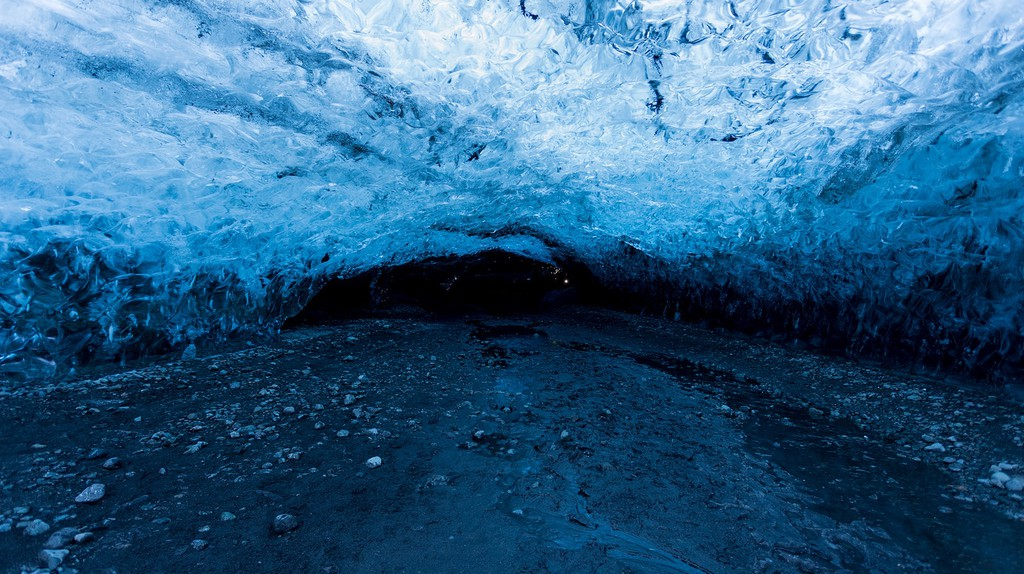 Ice Cave under Vatnajokull National Park