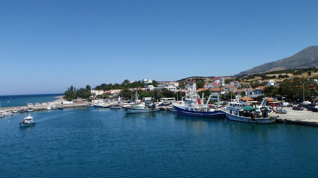 Little harbor in Samothraki, Greece