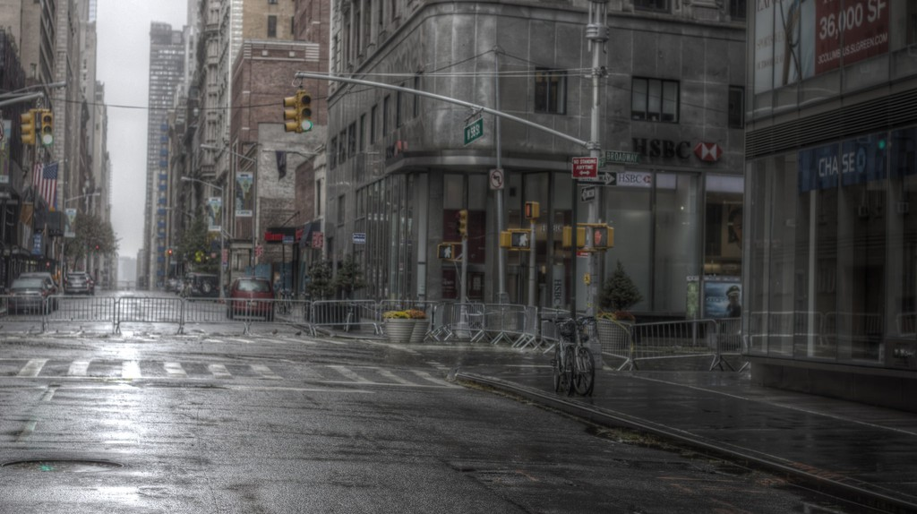 Abandoned streets of New York City