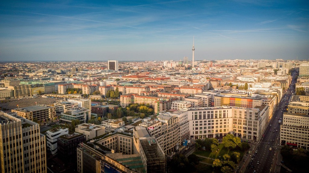 A stunning view overlooking Berlin